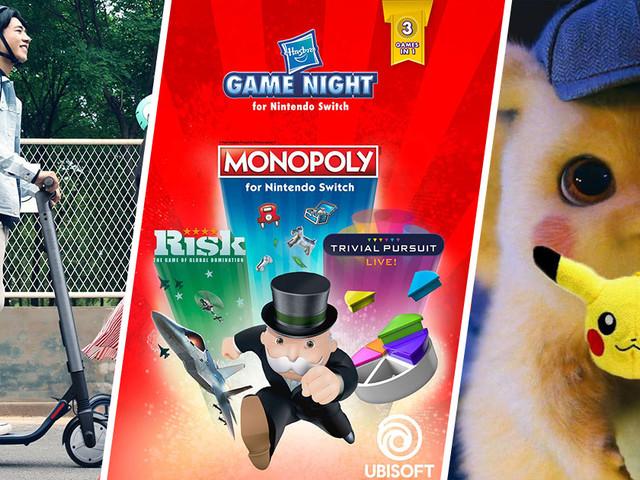 Belles réductions sur une trottinette Ninebot, un trio Hasbro sur Switch et un porte-clef peluche Pikachu