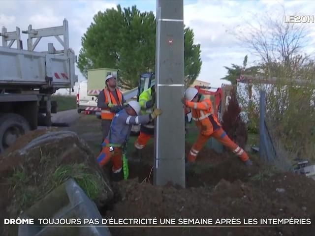 Drôme : toujours pas d'électricité à Portes-lès-Valence, une semaine après les intempéries