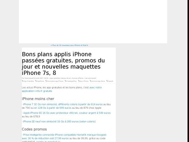 Bons plans applis iPhone passées gratuites, promos du jour et nouvelles maquettes iPhone 7s, 8