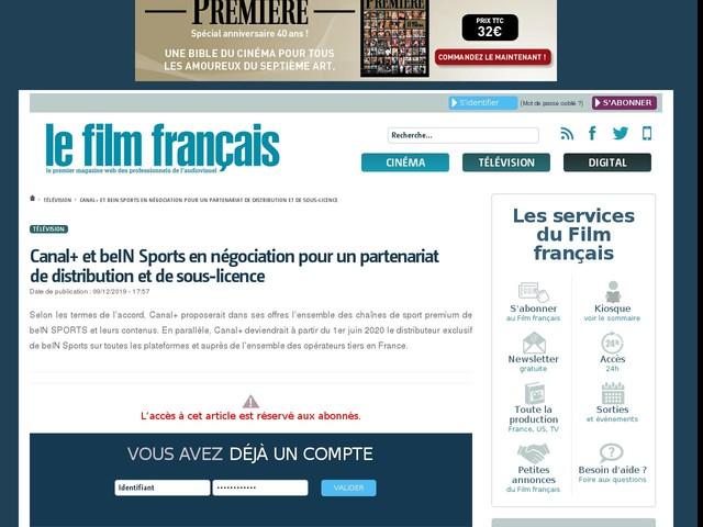 Canal+ et beIN Sports en négociation pour un partenariat de distribution et de sous-licence