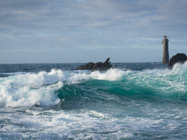 An Island Guarded By Lighthouses By Fritz Widmer