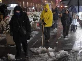 """Les Etats-Unis balayés par """"Eboni"""", une tempête de neige et de fortes pluies"""