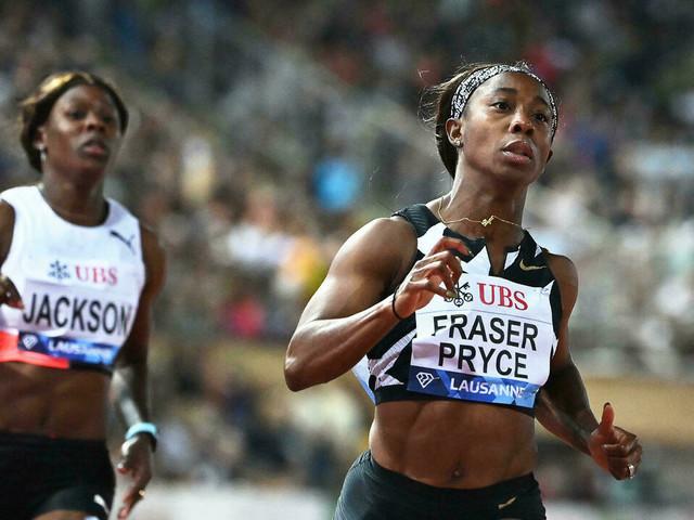 Athlétisme: Fraser-Pryce refroidit Thompson-Herah sur un 100 m bouillant à Lausanne