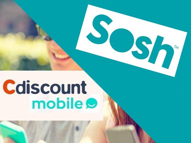 Promos forfaits : illimité + 50 Go chez Sosh et 100 Go chez Cdiscount Mobile pour 9,99 € mensuels