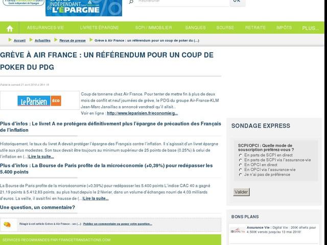 Grève à Air France : un référendum pour un coup de poker du PDG