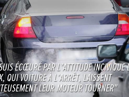 Peut-on laisser tourner le moteur de sa voiture quand on est à l'arrêt? NON et ce sera 130€ d'amende