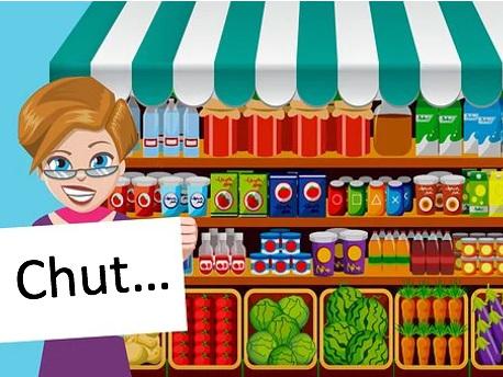 Une heure silencieuse au supermarché