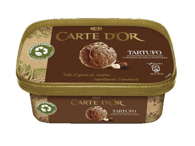 Un emballage en carton pour les glaces Carte d'Or