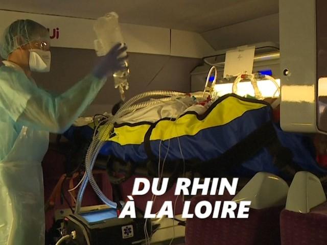 Coronavirus: les images du TGV médicalisé qui a évacué ses premiers patients