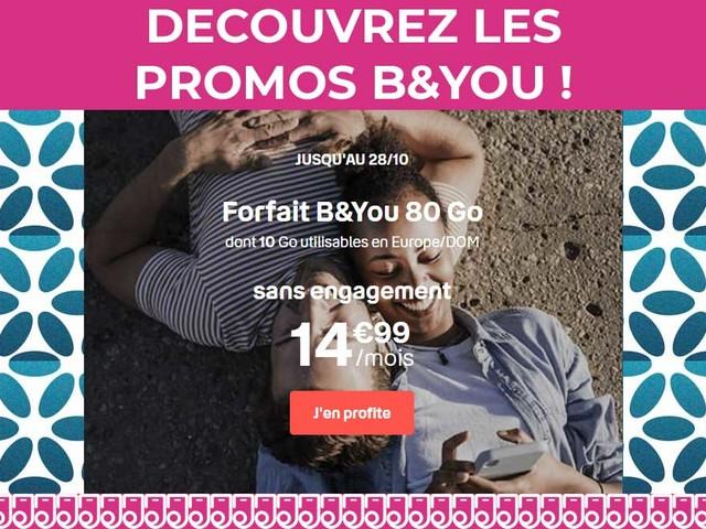Découvrez les trois forfaits mobiles BandYou en promo jusqu'au 28 octobre !