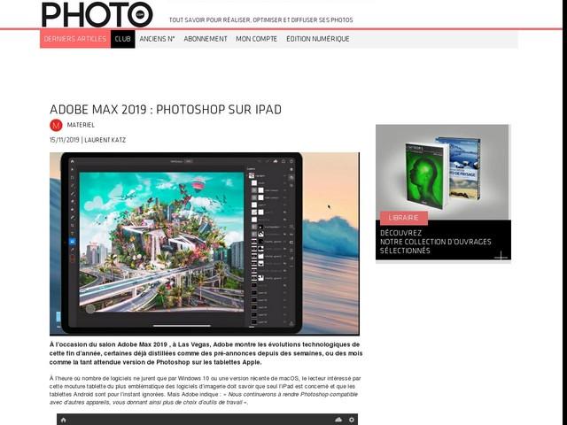 Adobe Max 2019 : Photoshop sur iPad