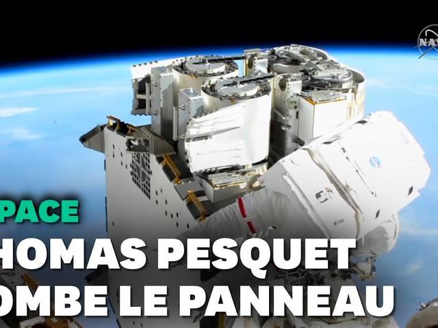 Les premières images de la sortie de Thomas Pesquet dans l'espace