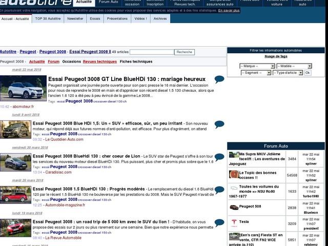 Essai Peugeot 3008 GT Line BlueHDi 130 : mariage heureux