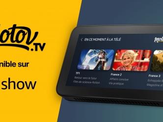 Molotov maintenant disponible sur les écrans connectés Amazon Echo Show