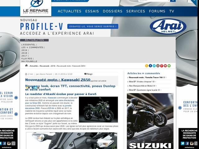 Nouveauté moto : Kawasaki Z650