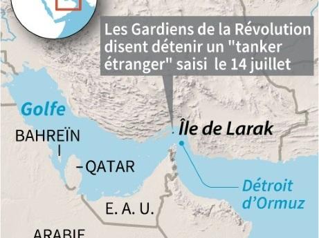 """L'Iran dit détenir un tanker étranger accusé de """"contrebande"""""""