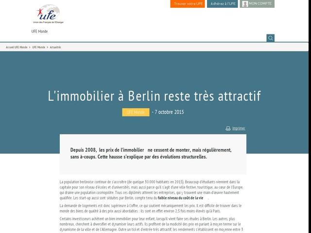 L'immobilier à Berlin reste très attractif