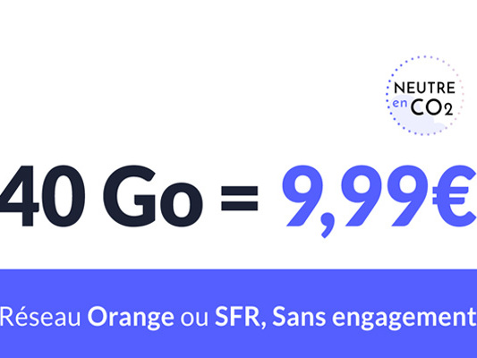 PROMO : Un forfait mobile 80Go à partir de 10€ mois sur les réseaux SFR ou Orange !