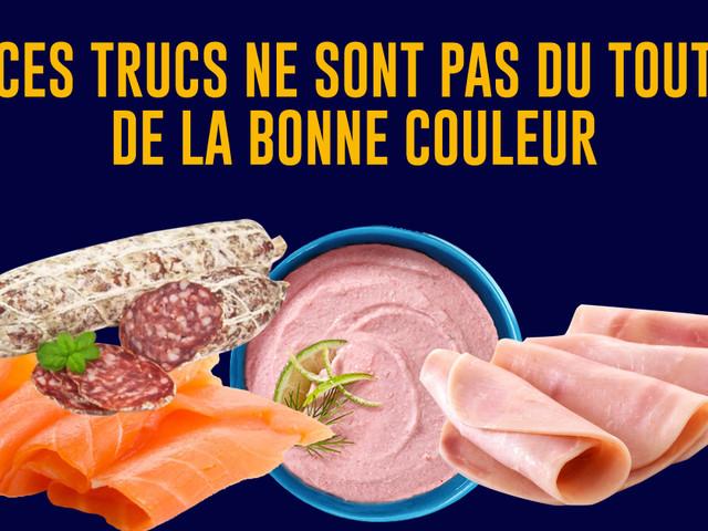 Top 10 des vraies couleurs des aliments industriels, NON le jambon c'est pas rose !