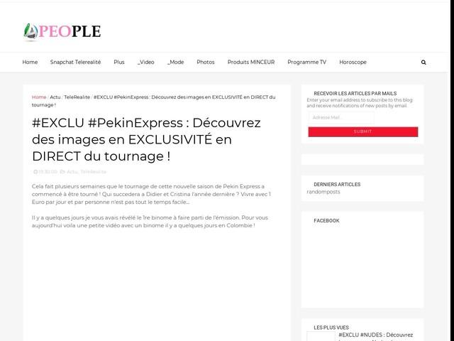#EXCLU #PekinExpress : Découvrez des images en EXCLUSIVITÉ en DIRECT du tournage !