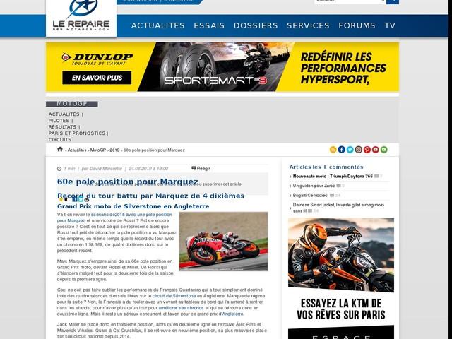 60e pole position pour Marquez