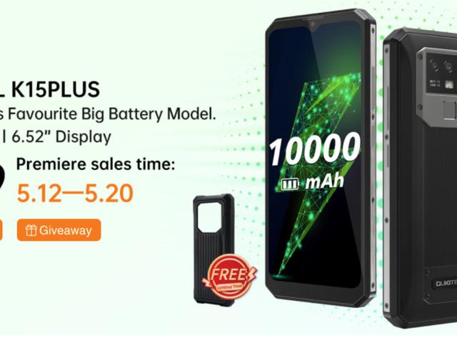 OUKITEL K15 Plus, un téléphone portable robuste, 10000mAh, NFC de 6.52 pouces à moins de 90$