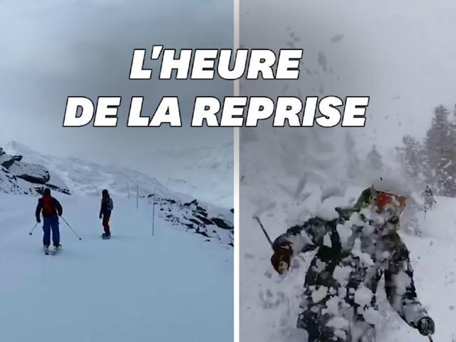 Les images des premières descentes en ski de la saison