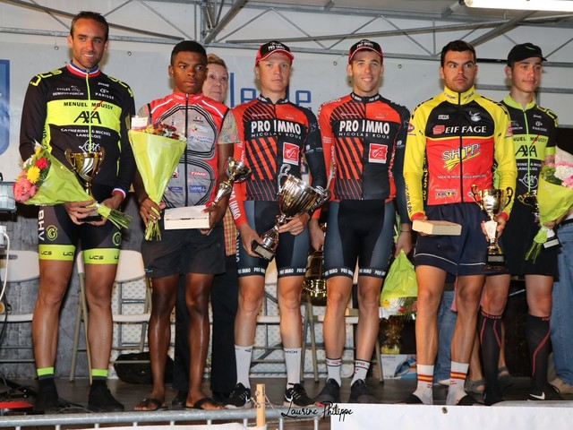 LA 55ème Nocturne de Cosne Sur Loire (58) organiséepar l'UNION COSNOISE SPORTIVE - Catégorie : 1ère - 2ème - 3ème - Juniors - Pass'cyclisme open, a étéremportée parPierre BONNET (Team Pro Immo Nicolas Roux) devant son coéquipier Mickaël GUCHARD etBertrand GOUPIL (UC Orléans) -Speaker, Guy PAGE- classement + photos- (Laurine PHILIPPE - Jacky BALLAND - Guy PAGE - Julien PHILIBERT - Le Journal du Centre)