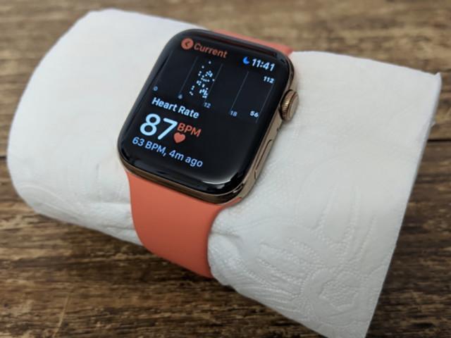 Insolite : l'Apple Watch calcule le rythme cardiaque du papier toilette