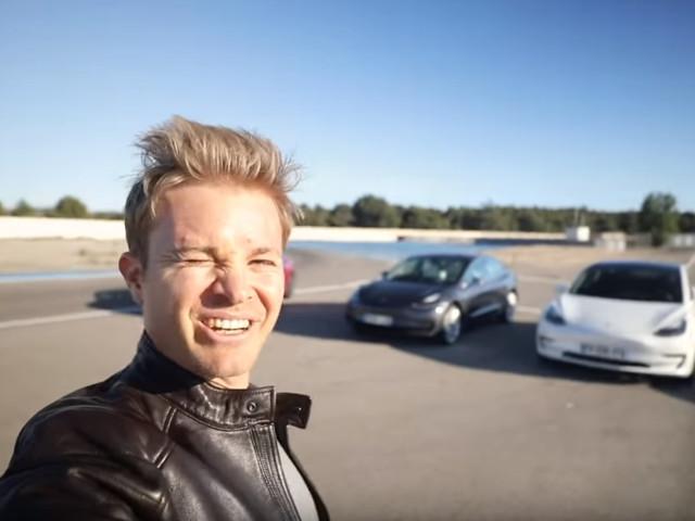 Nico Rosberg surpris par les performances d'une Tesla Model 3