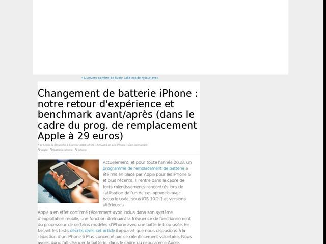 Changement de batterie iPhone : notre retour d'expérience et benchmark avant/après (dans le cadre du prog. de remplacement Apple à 29 euros)