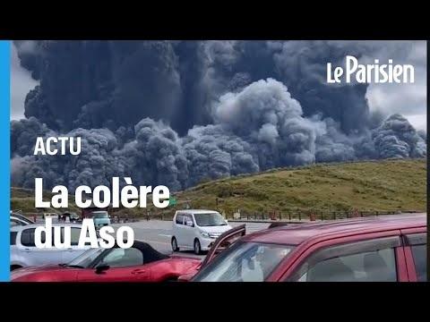 Revivez l'éruption spectaculaire du volcan Aso, l'un des plus actifs du Japon