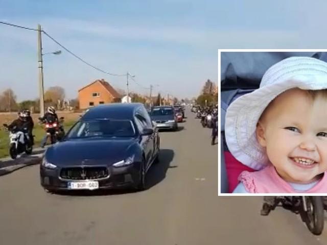 Des dizaines de motards présents pour dire au revoir à la petite Thayla, décédée après long combat contre la maladie (vidéo)