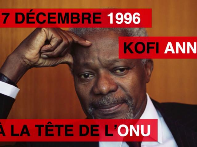 [Vidéo] 17 décembre 1996: Kofi Annan à la tête de l'ONU