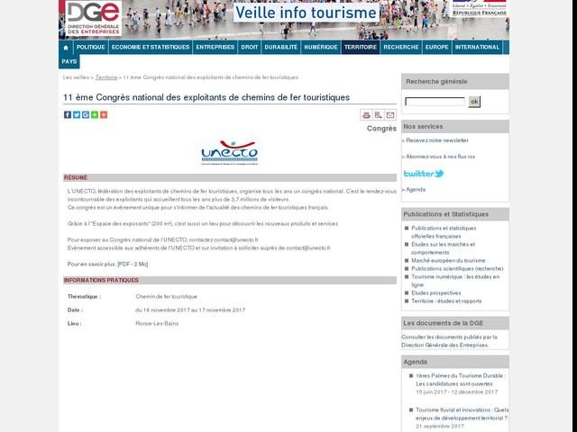 11 ème Congrès national des exploitants de chemins de fer touristiques