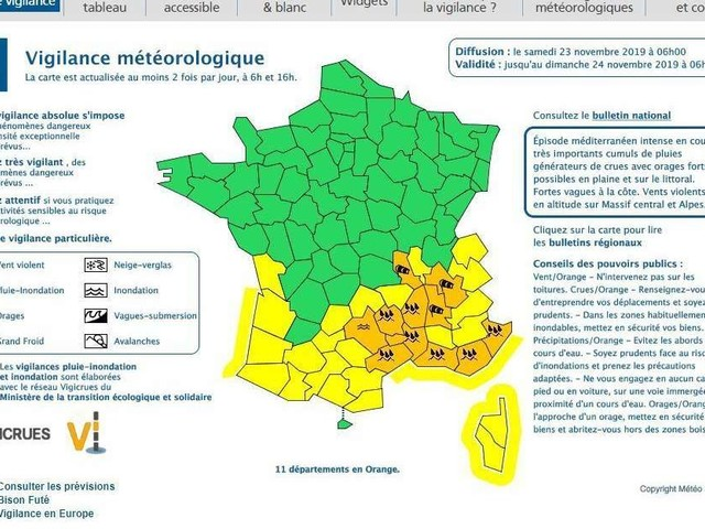 Intempéries : 11 départements du Sud-Est en alerte, une personne portée disparue dans le Var