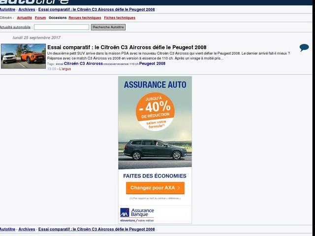 Essai comparatif : le Citroën C3 Aircross défie le Peugeot 2008
