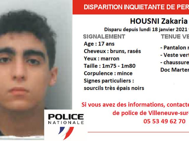 Disparition inquiétante d'un mineur en Lot-et-Garonne : un appel à témoins lancé