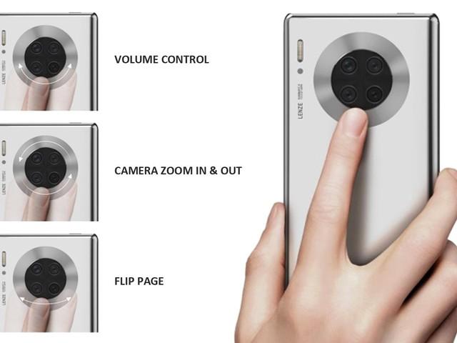Drôle d'idée: Huawei imagine un écran autour du module photo sur smartphone