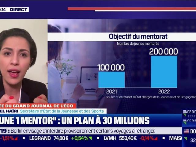 """Sarah El Haïry sur le dispositif """"1 jeune 1 mentor"""": """"j'invite toutes les entreprises qui ont envie à participer à l'appel à projet"""