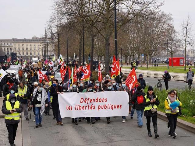Bordeaux : 4 000 personnes manifestent contre la loi Sécurité globale