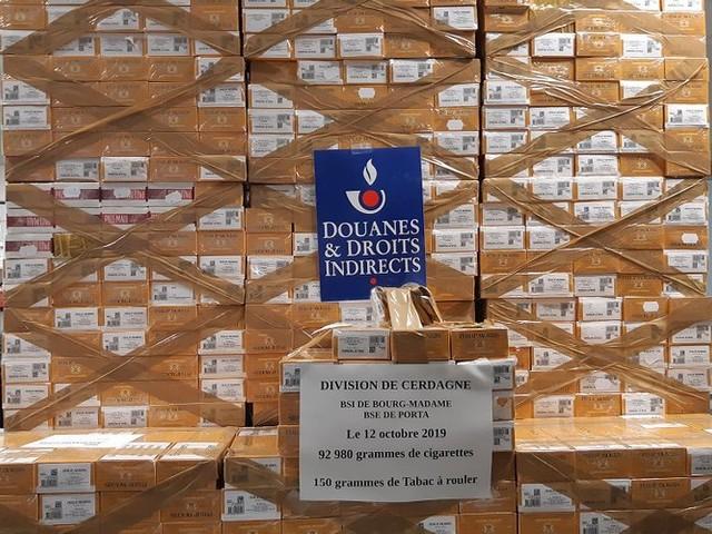 P.-O. : 812 cartouches de cigarettes et près de 33 kg de tabac saisis en 3 jours en Cerdagne