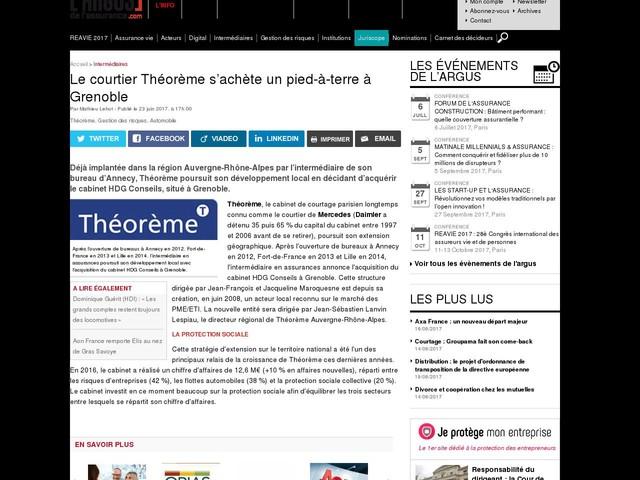 Le courtier Théorème s'achète un pied-à-terre à Grenoble