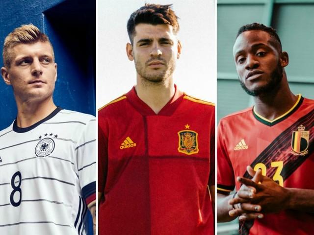 Les maillots de l'Espagne, de la Belgique et de l'Allemagne dévoilés