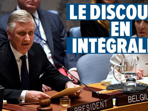 """""""Ce chiffre ne peut nous laisser indifférents"""": le Roi s'est exprimé à l'ONU et a attiré l'attention sur les enfants victimes de conflits armés"""