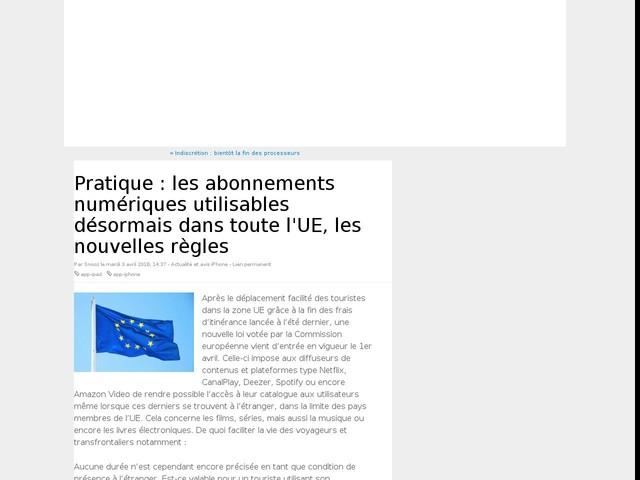 Pratique : les abonnements numériques utilisables désormais dans toute l'UE, les nouvelles règles