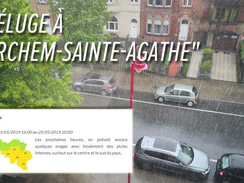 """""""Le déluge à Lobbes !"""": de fortes averses et des orages annoncés un peu partout dans le pays"""