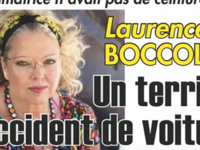 Laurence Boccolini, « un terrible accident de voiture »