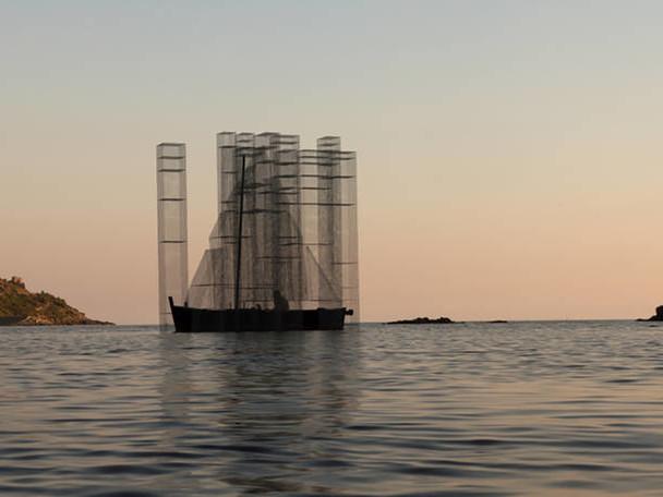 Ghostly Floating Installation by Edoardo Tresoldi