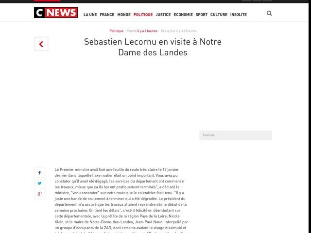 Sebastien Lecornu en visite à Notre Dame des Landes